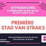 5 februari – Première Stad van Straks – docu & krant